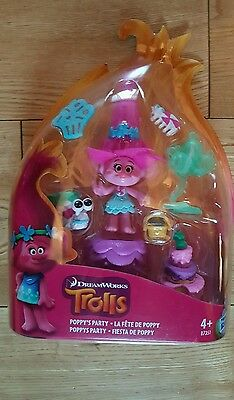 Trolls Poppy's Party Figure Set brand new unopened