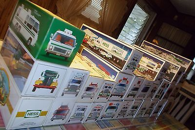 Vintage Large Mix Lot 28 Hess Toy Trucks Never Displayed 1980's