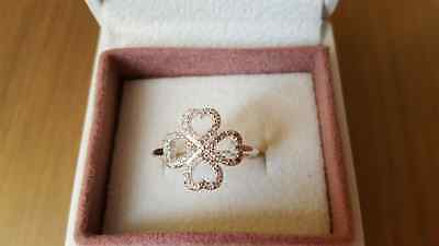 Pandora Petals of Love Sterling Silver Ring.Size 52  S925 ALE