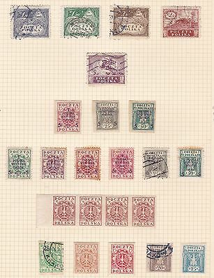 Poland  1919   Philatelic Exhibition + Various Values Imperfs  Mh & Used