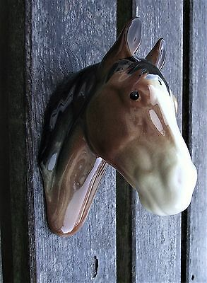 Vintage Pottery Horse Head Wall Plaque