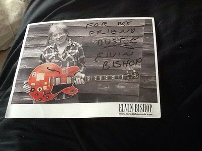 ELVIN BISHOP, BLUES LEGEND, Autographed 2011 Photo With A New 2010 CD