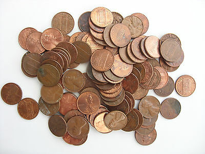 Lot Of 100 American Cents 1 Cent Different Years