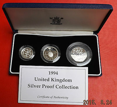 1994 Silver Proof Collection In Blue Box With Coa