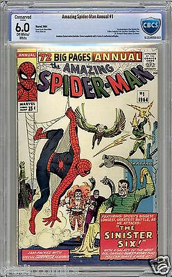 Amazing Spider-Man Annual #1 - CBCS 6.0C - 1st app of the Sinister Six