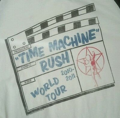 Official 2010-2011 Rush Time Machine World Tour Long Sleeve Shirt size M Raglan