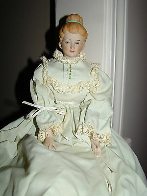 Antique Porcelain And Cloth Doll Marked L. Fox 1961