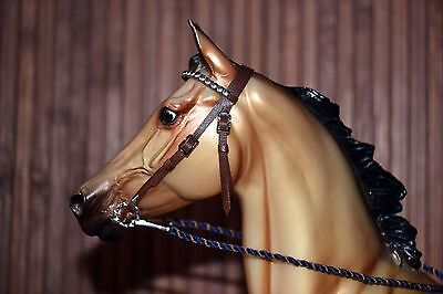 LSQ Western Style Bridle, Med. Brown, Breyer Stone Model Horse, Traditional 1:9