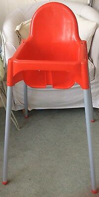 IKEA Antilop Red High Chair with Tray