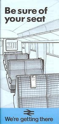 BR Southern Region seat reservations Mark Two Coach 1984 London Waterloo