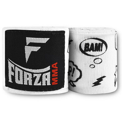 "Forza 180"" Mexican Style Boxing Handwraps - Comic Book White"