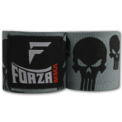 "Forza 180"" Mexican Style Boxing Handwraps - Skulls Gray"