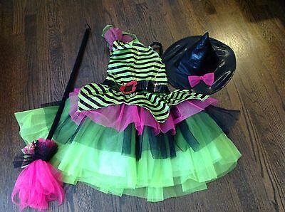 Girls Halloween Witch Costume Size 6-8