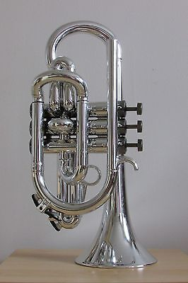 Tromba Plastic Bb Cornet in Silver with Black Nickel Trim