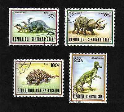 Central African Republic 1988 Prehistoric Animals short set of 4 values used