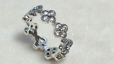 Pandora Oriental Blossom Sterling Silver Ring. Size 56  S925 ALE