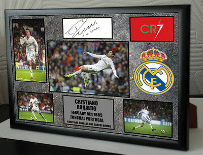 Ronaldo Signed Tribute Framed Great Gift