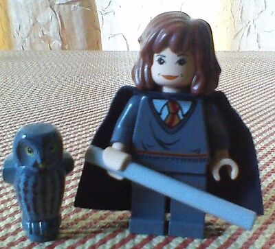 LEGO Harry Potter HERMIONE GRANGER & OWL Hogwarts Castle Collectible Minifigure