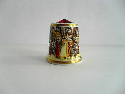Sutherland China Thimble Commemorating The 30Th Anniversary Of The Coronation