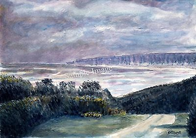 The Bay Filey Signed Art Print of original Watercolour Painting by Steve Russell