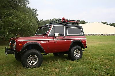 1973 Ford Bronco red 1973 Ford Bronco