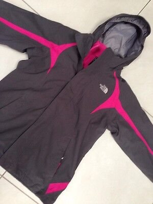 Girls North Face Hyvent 3 In 1 Jacket With Fleece Hooded Waterproof L Age 14-16