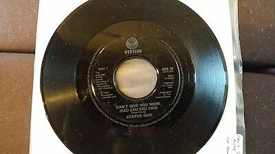 "Status Quo - Can't Give You More (Eau Eau Eau Eau) 7"" Promo"