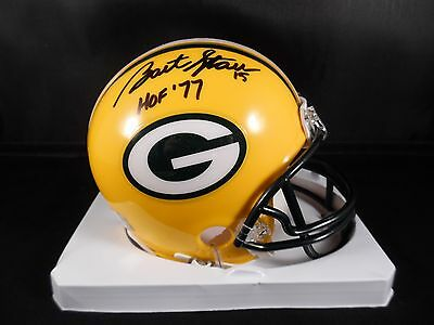 Bart Starr Green Bay Packers Autographed Mini Helmet