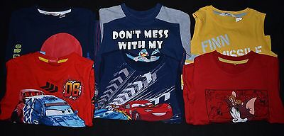 Bundle of 6 Boys T Shirts Tops Age 4-5 Disney incl: Cars, Angry Birds, Tom&Jerry