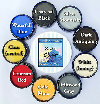 "Chalk Painting Wax ""Natural"" 1 8 0z Clear & 2 4 oz Accent Wax 8 Colors to Choose"