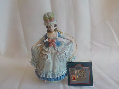 Viintage Schmid Yamada Collection 1985 Music Box Victorian Lady #293 Signed Exc.