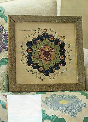 Nana's Flower Patch Quilt Pattern Pieced/English Paper Pieced/Embroidery KB