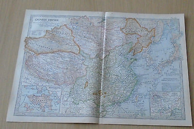 Old Britannica Map Chinese Empire