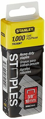 Stanley Trc606T 3/8 Inch Heavy Duty Wide Crown Staples Pack of 1000