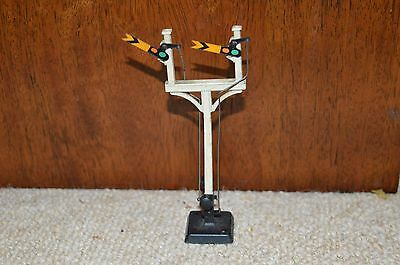 Hornby Meccano double railway signal with mechanism