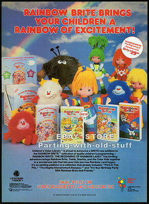 RAINBOW BRITE and Friends__Original 1986 Print AD / video promo advertisement