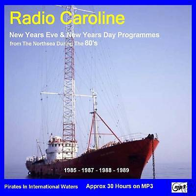 Radio Caroline-New Year Shows From The 80's Approx 30hr (MP3 DVD Disc)