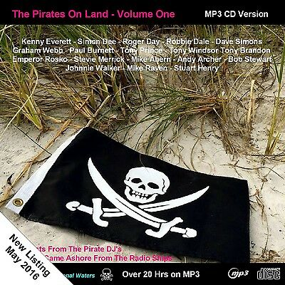 Pirate Radio 'Pirates On Land' Volume One 20hrs of broadcasts on NOW ON MP3CD!