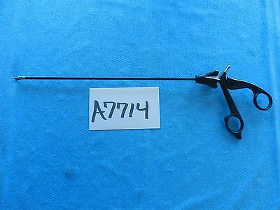 Aesculap Surgical Laparoscopic 5mmX31cm Durogrip TC Curved Needle Holder PO668R
