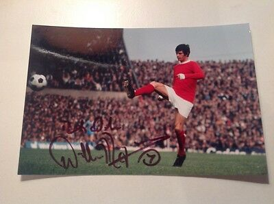 Willie Morgan Manchester United Genuine Signed 6x4 Photo