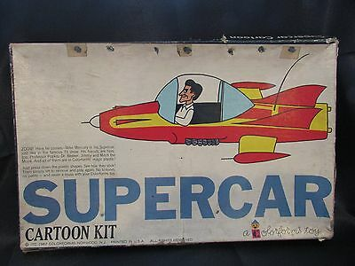Rare 1962 SUPERCAR Mike Mercury Colorforms Cartoon Kit Toy Atomic Age Game Vtg