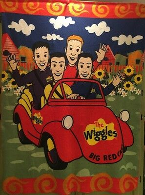 The Wiggles Big Red Car Throw Blanket Clouds