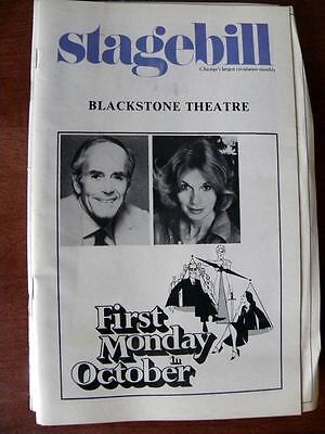"""Stagebill """"First Monday in October"""" at the Blackstone in March 1979 Henry Fonda"""