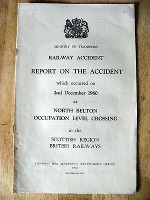 Railway Accident Report, North Belton Occupation Level Crossing 1960