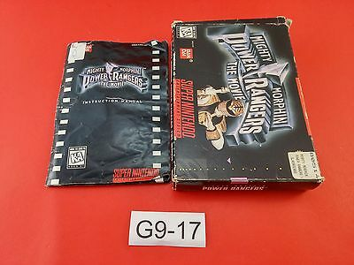 Mighty Morphin Power Rangers The Movie [Box + Manual Only] (Super Nintendo SNES)