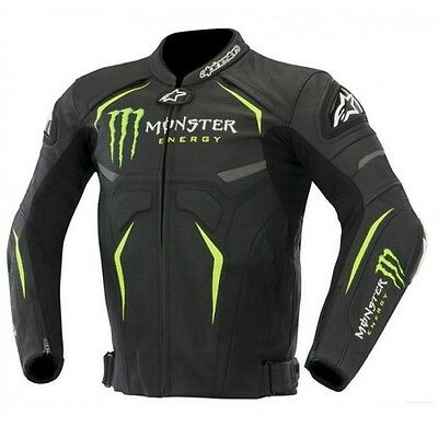 Monster Motorcycle Motorbike Racing Leather Jacket Ce Approved Protection