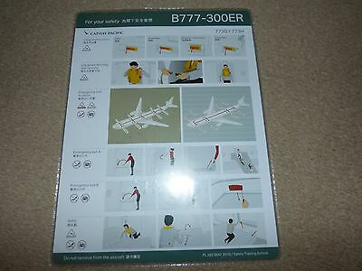 Cathay Pacific Airways Hong Kong Boeing 777 300 Series Safety Card May 2016