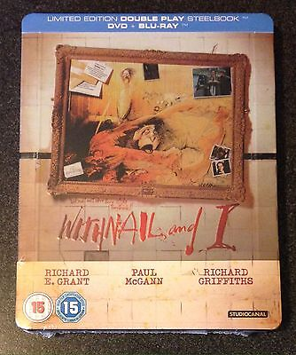 WITHNAIL AND I Blu-Ray SteelBook Zavvi UK Exclusive Ltd Ed B/2 DVD New OOP Rare!