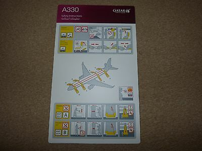 Qatar Airways Airbus A330 Series Safety Card Version 03