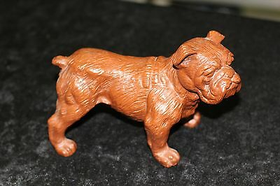 VINTAGE RED MILL REDMILL BULL DUG HAND CARVED Bulldog figurine NEW